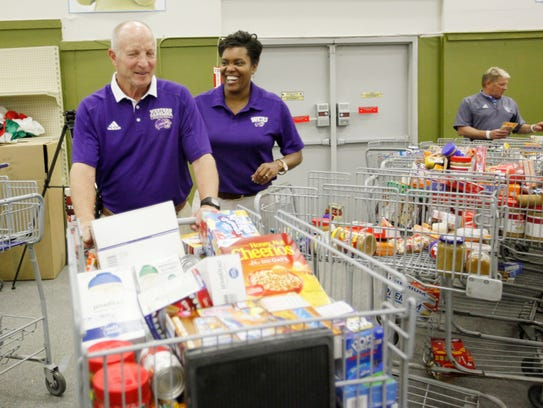 Larry Hunter and Stephanie McCormick, WCU men's and