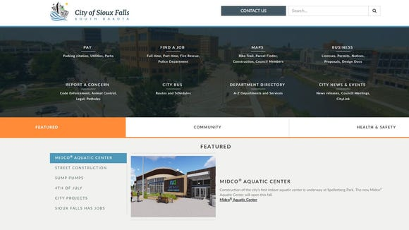 The city of Sioux Falls enlisted a web developer to