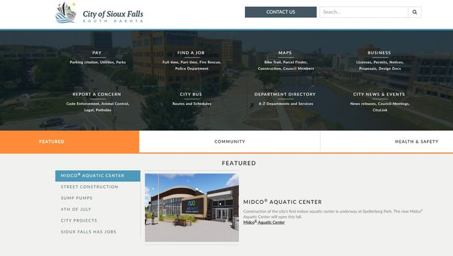 The city of Sioux Falls enlisted a web developer to rebuild its website with the intention of making it more user and mobile friendly.