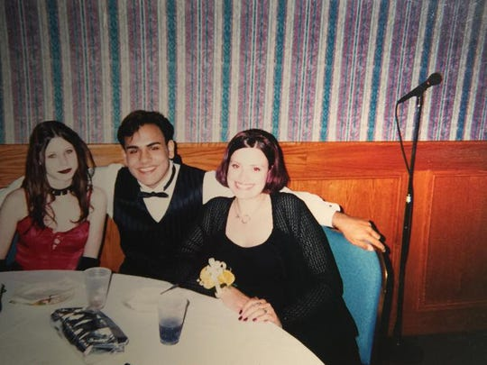 Shawn Hudson and his two dates, Port Huron High School