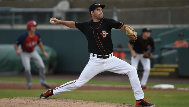 Lucas Humpal leads all Shorebirds pitchers with 41 strikeouts.