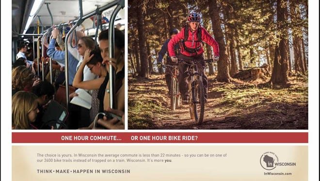 Here's one of the ads that will target young professionals who graduated from UW campuses, and moved to Chicagoland to work. Wisconsin wants them back.
