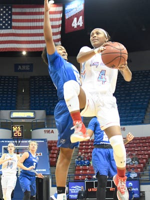 Louisiana Tech guard Kierra Anthony, a second-team all-league selection, leads the Techsters into Thursday's quarterfinals.