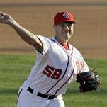 Washington Nationals' Jonathan Papelbon pitches against the New York Yankees earlier this week.