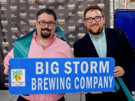 LJ Govoni, left, and Mike Bishop of Big Storm Brewing