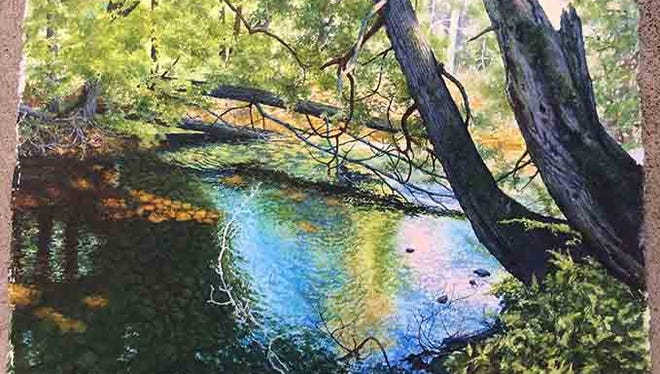 """""""Hibbard Creek,"""" painting by Connie Glowacki, part of the """"Contributors"""" exhibit recalling the Door County Art League at Meadows Art Gallery."""
