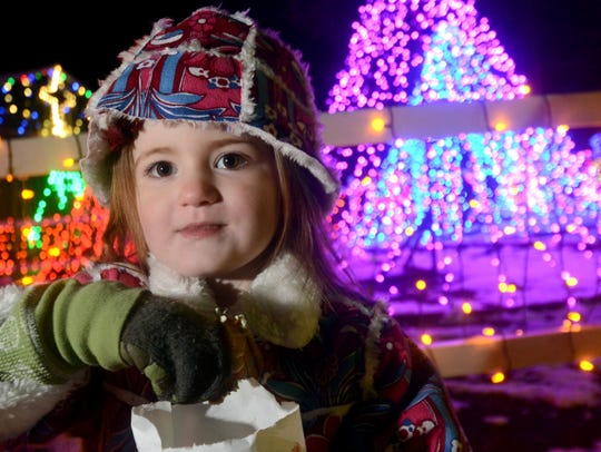 Scarlet Schrum, 4, of Lower Windsor Township takes