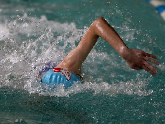 Hirschi's Nate Simmons was second in the 200 freestyle and 100 backstroke on Saturday at the District 5-5A Meet.
