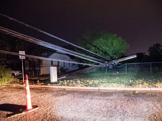 High winds snapped power lines causing power lines