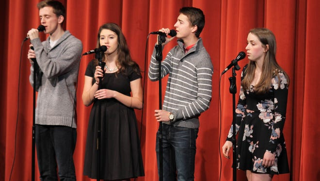 Silverton High School choir students perform in the fourth annual Cabaret on March 16.
