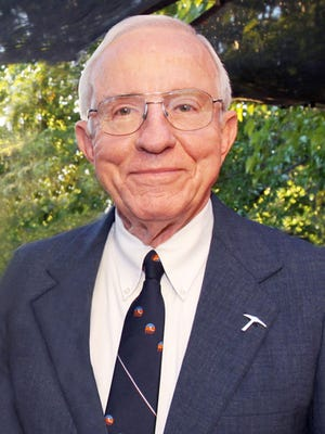 Haskell Monroe, photographed at a Hoover House reception, died Monday.