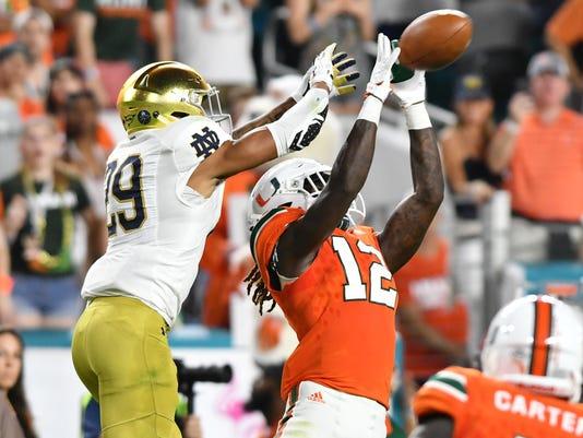 NCAA Football: Notre Dame at Miami