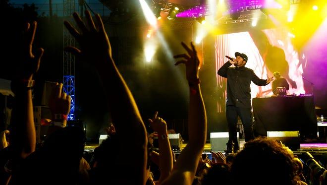 Ice Cube performs at the Bunbury Music Festival Saturday, June 4, 2016.