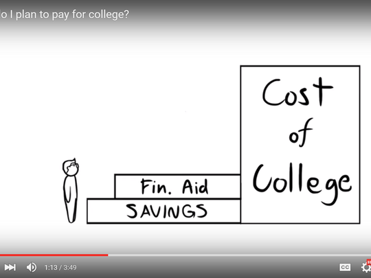 This is a screen grab from Alex Gomez's video that helped win him a $2,500 award from school loan provider Sallie Mae.