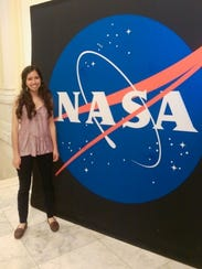 Sophia Sánchez-Maes during NASA's Science Day this