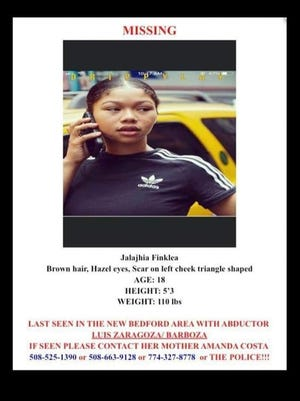The Mashpee Wampanoag Tribe is offering a $1,000 reward for information that leads to the safe return of Jalajhia Finklea, an 18-year-old member reported missing last week.