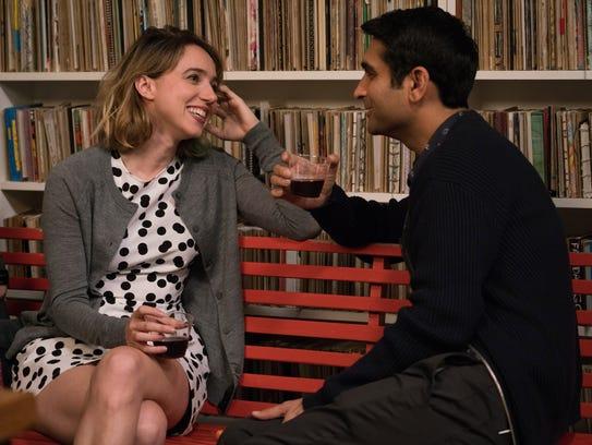 "Zoe Kazan and  Kumail Najiani star in ""The Big Sick."""