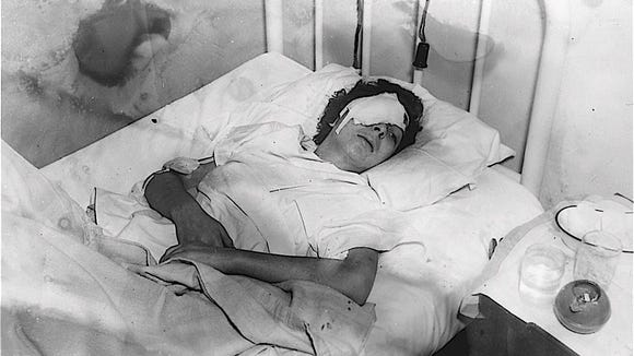 """Helen Sieler survived her injuries and was found in a snowy ditch near the powder house. She later became known as the  """"Woman With Ten Lives"""" as she toured the carnival circuit."""