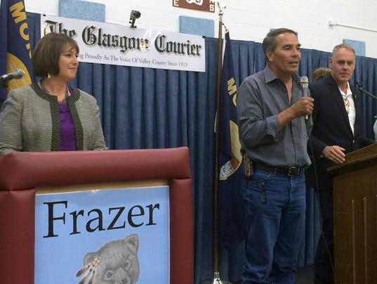 Floyd Azure,Ryan Zinke,Denise Juneau