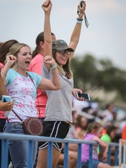 Fans cheer on their athletes during the Region II-1A