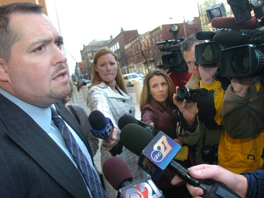 York County presecutor Tim Barker talked to the press on Monday, Nov. 16, 2009, after Harve Lamar Johnson was sentenced to death in the murder of 2-year-old Darisabel Baez.
