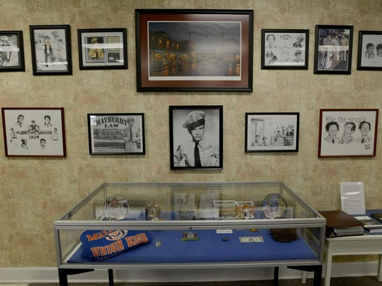 """An exhibit celebrating """"The Andy Griffith Show"""" is on display at The University of Memphis Lambuth Campus Library. The exhibit is available to view during the spring semester, Monday-Thursday from 9 a.m. to 5:30 p.m., and Fridays from 8 a.m. to 4:30 p.m."""