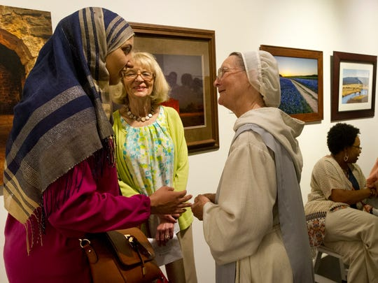 An Abilene Interfaith Council prayer event in 2016 at The Center for Contemporary Arts. The group will not have a public event this year but will post a video on its website and Facebook page.