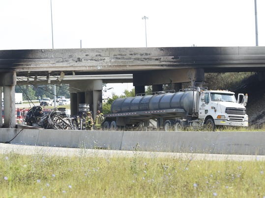 Tanker Fire Interstate Closures