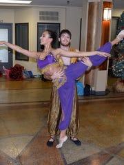 Mikiya Reuther and Arian Politi perform the Arabian