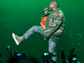 Kanye West performs at DirectTV's SuperBowl XLIX Party.