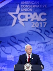 Vice President Mike Pence makes remarks to the Conservative