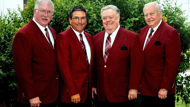 Monte Mahon (from left), David Hettick, James Crowder and Harold Brothers will perform together as The Embers, a Southern gospel quartet, one last time on Dec. 2, 2107.