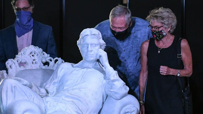 "Gaetano ""Guy"" M. Cecchini gifted a $700,000 white marble life-size sculpture of Italian singer Andrea Bocelli to the Cultural Center for the Arts in celebration of the organization's 50th anniversary. Cecchini purchased the sculpture at a fundraiser for the Cleveland Clinic Lou Ruvo Center for Brain Health."