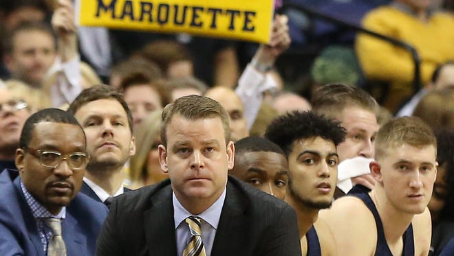 Marquette coach Steve Wojciechowski and the Golden Eagles face Xavier on Saturday night in Milwaukee.