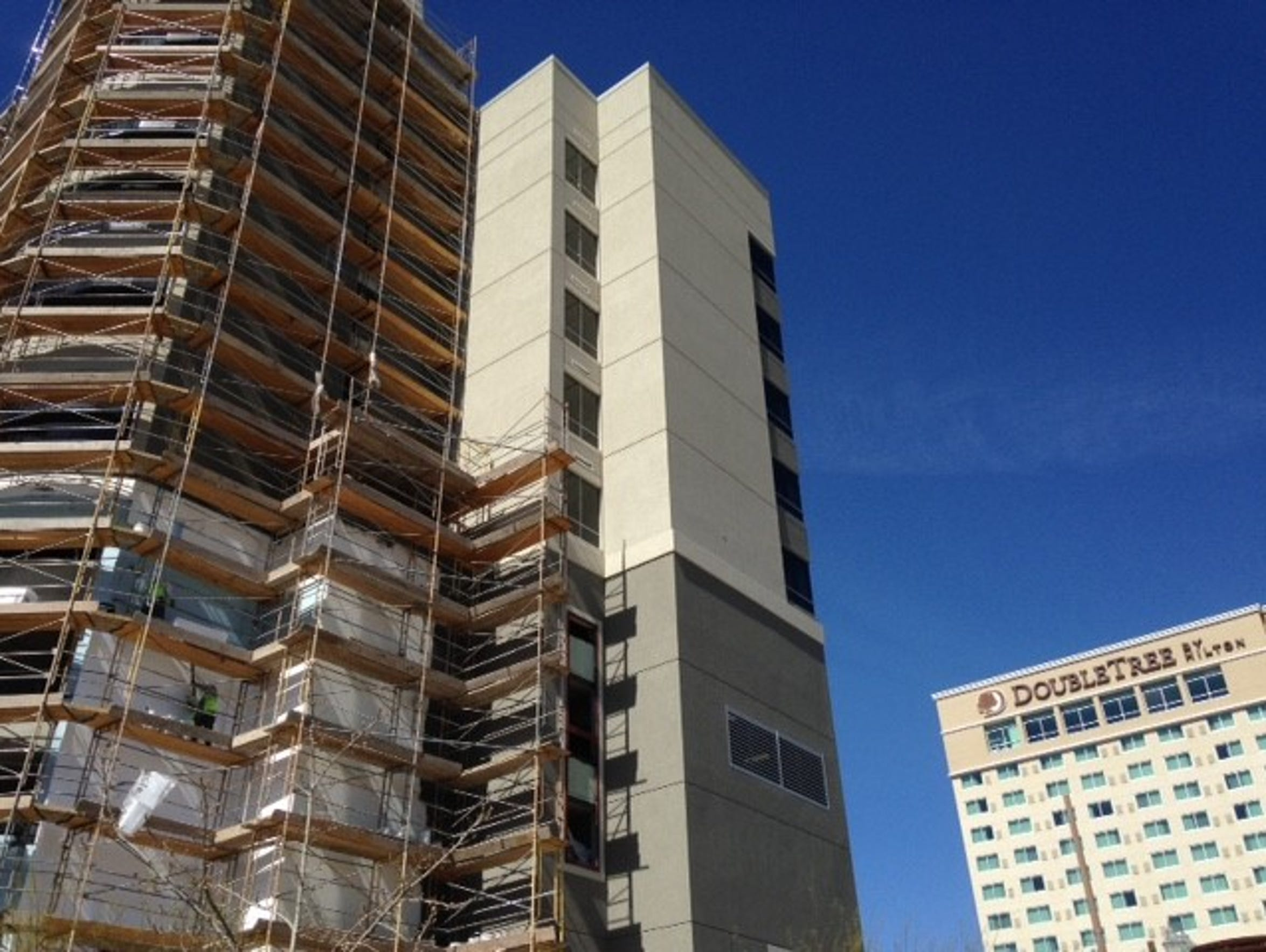 The Courtyard by Marriott hotel is under construction