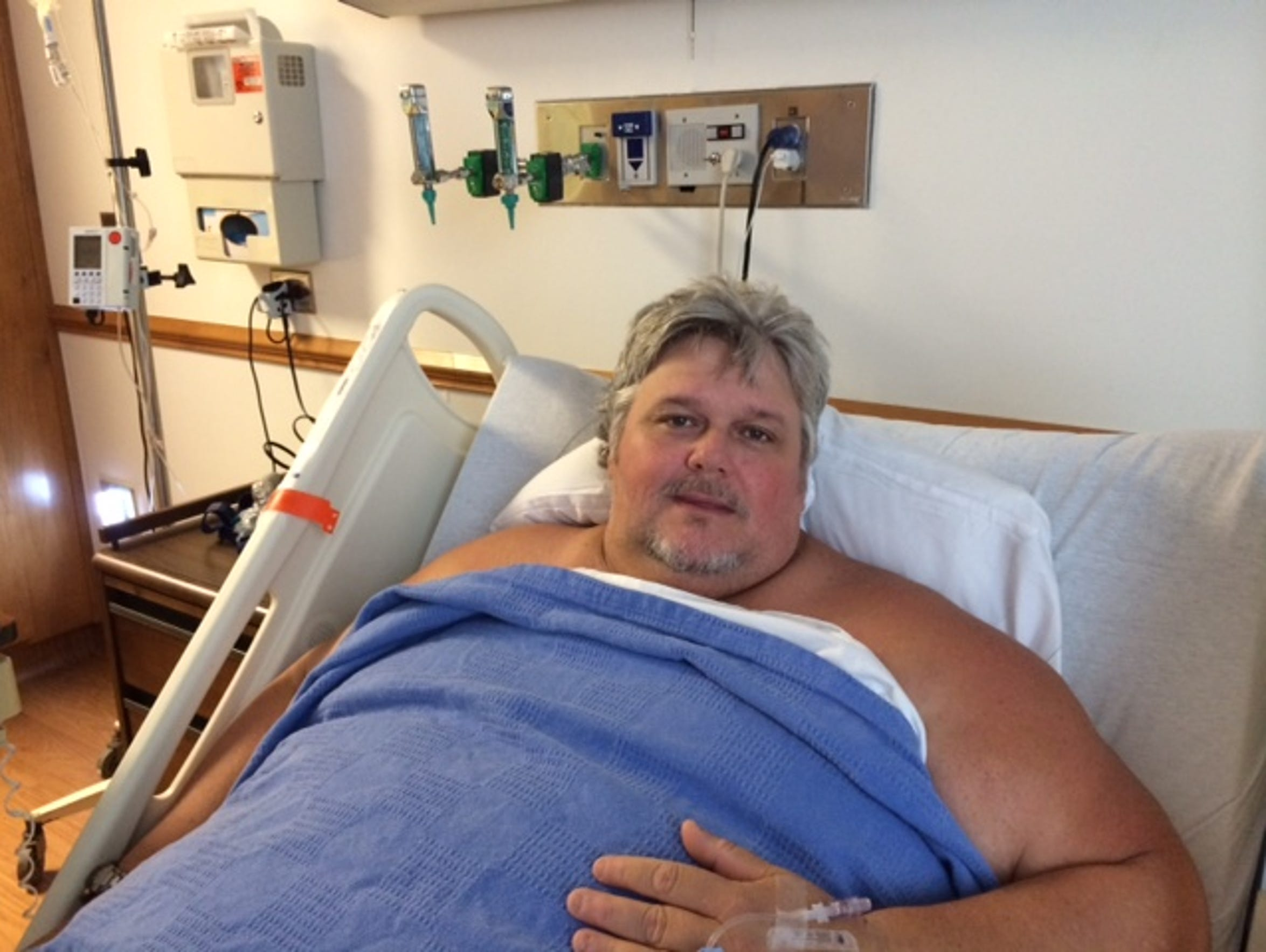 Greg Willoughby, 46, was disoriented from cellulitis