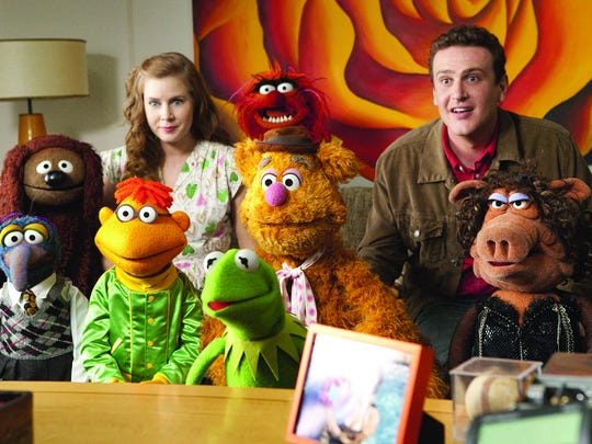 Amy Adams and Jason Segel helped the Muppets stage
