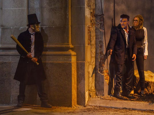 """Frank Grillo and Elizabeth Mitchell in """"The Purge:"""