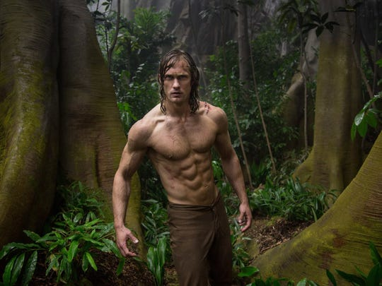 "Alexander Skarsgard in ""The Legend of Tarzan."" The movie is playing at Regal West Manchester Stadium 13, Frank Theatres Queensgate Stadium 13 and R/C Hanover Movies."