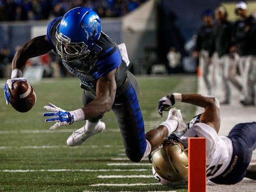 November 7, 2015 - Memphis receiver Anthony Miller