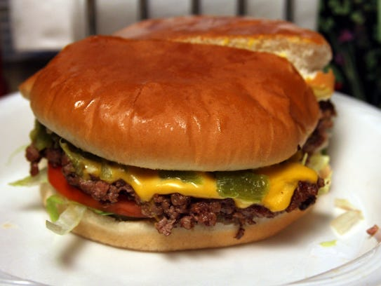 USA TODAY 10Best readers voted the Green Chile Cheeseburger