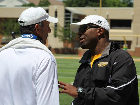 Derek Nicholson will coach linebackers and serve as Southern Miss' co-defensive coordinator in 2018.