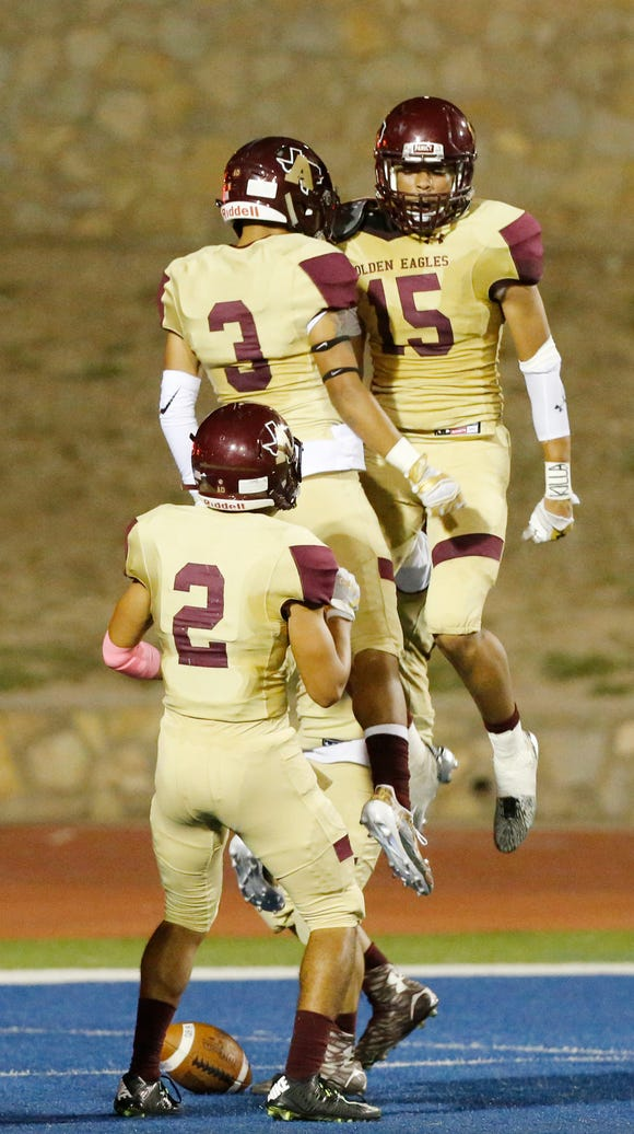 Andress and Bowie played earlier this season in football action.