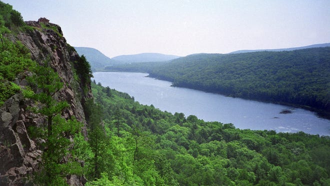 The Presque Isle River and Porcupine Mountains are the major attraction at Wilderness State Park in Ontonagon, Mich.