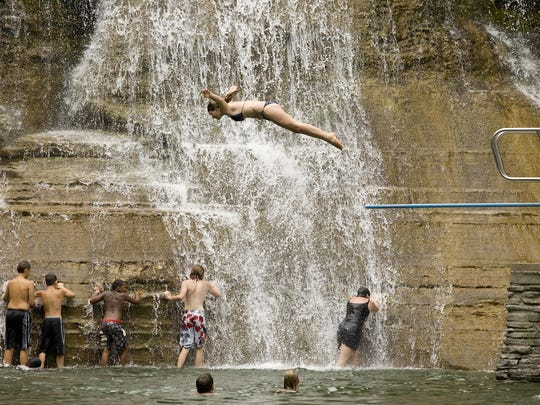 The swimming hole at Robert H. Treman State Park is on Weather.com's list of the best swimming holes in all 50 states.