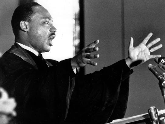 The Rev. Dr. Martin Luther King Jr. in 1967. That year,
