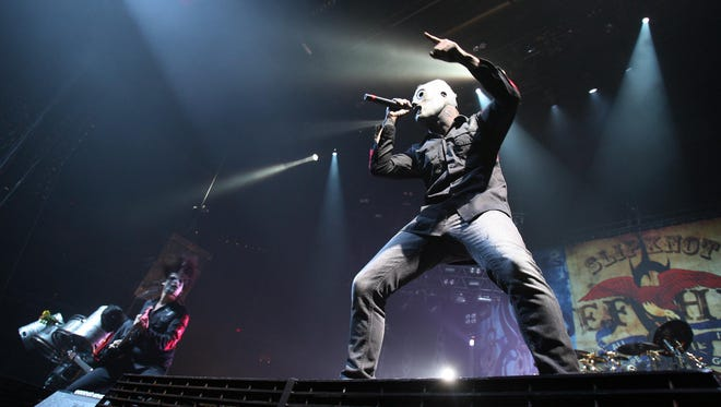 Corey Taylor performs with Slipknot at Wells Fargo Arena.