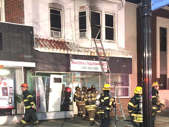 Firefighters respond to a fire on Landis Avenue.