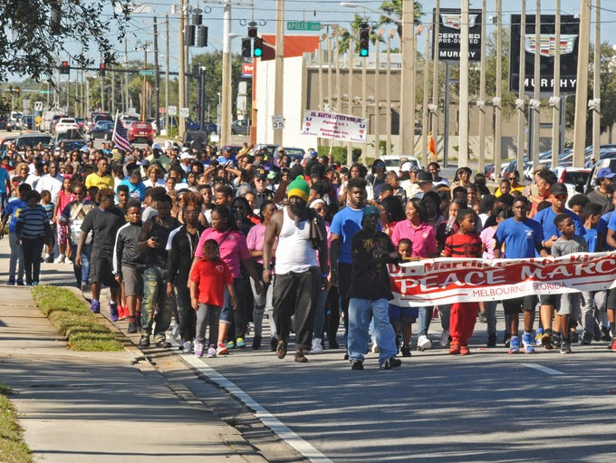 The Annual Martin Luther King, Jr. Peace March began