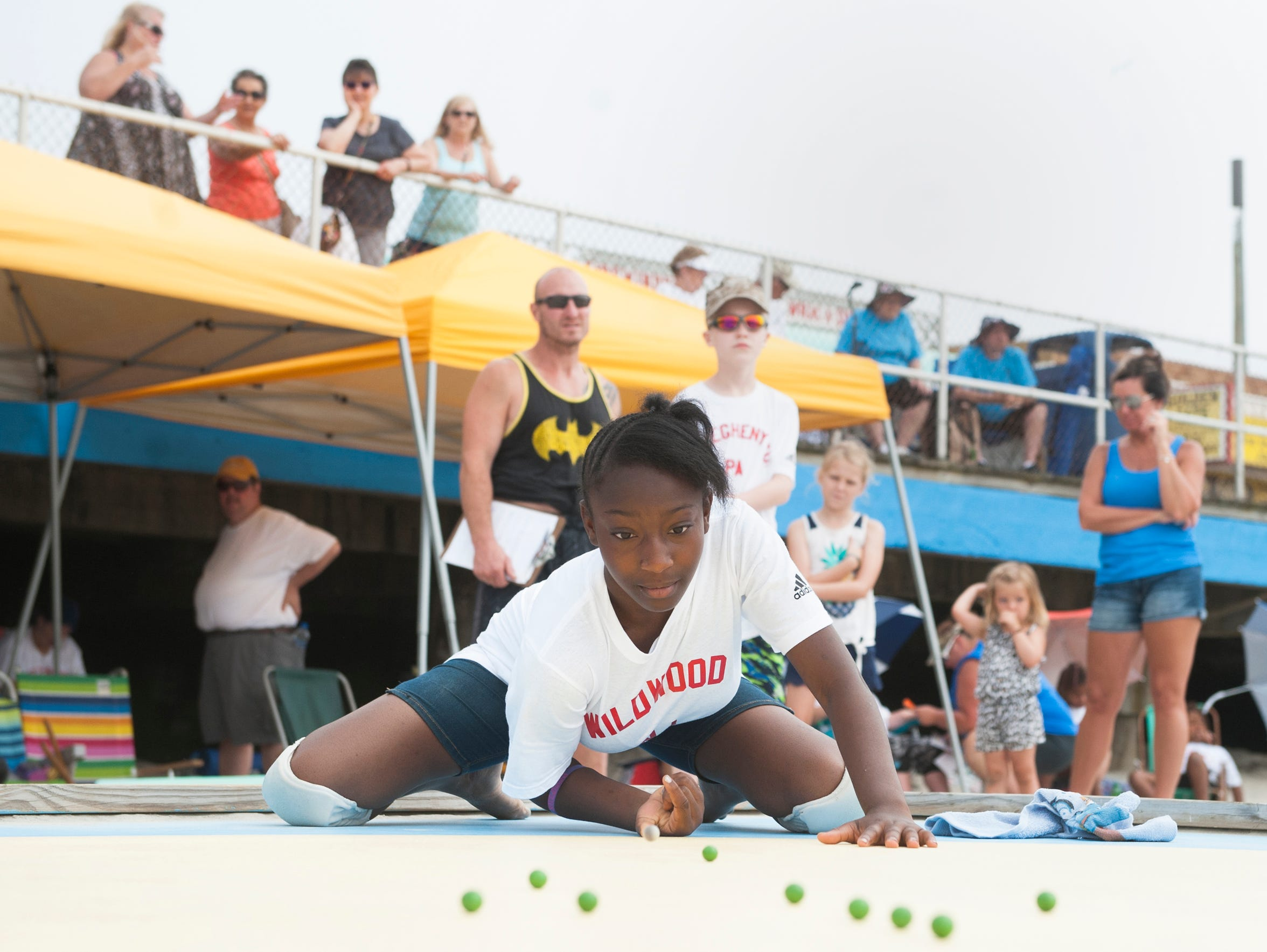 My'air Henry, 14 of Wildwood, competes in the National